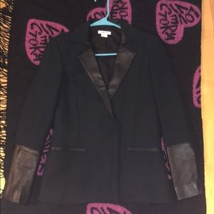 Helmut Lang leather/Polyester jacket with zippers